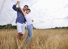 Free Happy Young Couple Have Romantic Time Outdoor Stock Photo - 17032080