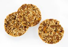 Free Cookies With Pumpkin And Sunflower Seeds Stock Photography - 17032142