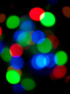 Free Christmas Tree Lights Royalty Free Stock Image - 17032326