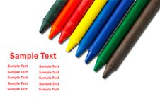 Free Colorful Crayons Royalty Free Stock Photography - 17032917