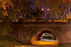Free Night In Central Park Royalty Free Stock Photography - 17032997