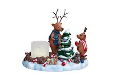 Free Candleholder With Reindeer Royalty Free Stock Images - 17034039