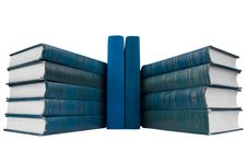 Free Pile Of  Blue Books Stock Photography - 17034392