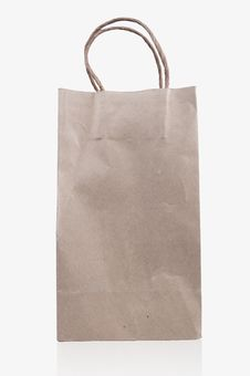 Free Brown Paper Bag On White Background Royalty Free Stock Images - 17034839