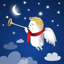 Cute Angel Illustration Stock Photography