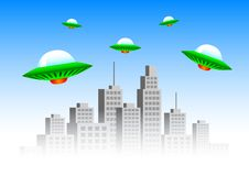 Free Flying Spacecrafts Stock Photography - 17036212