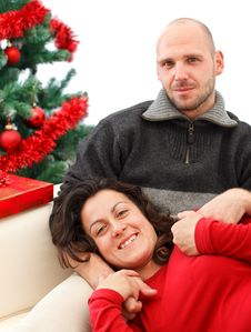 Free Couple At Christmas Time Royalty Free Stock Photo - 17036835