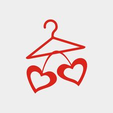 Free Hanger With Hearts Royalty Free Stock Photos - 17036858
