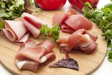 Ham Plate Royalty Free Stock Images