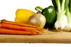 Free Vegetables On A Cutting Board Stock Images - 17036974