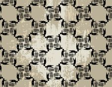 Free Seamless Ecological Pattern On Grunge Background Royalty Free Stock Photography - 17037507