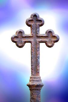 Free Rusty Cross With Blue Light Stock Photos - 17038873