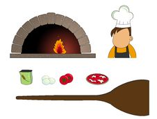 Making Pizza Elements Stock Images