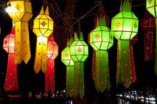 Free Lantern Light Festival 2010 In Chiangmai Stock Image - 17039771