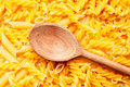 Free Pasta And Wooden Spoon Royalty Free Stock Photo - 17041615