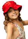 Free Girl In A Red Hat Royalty Free Stock Photos - 17044218