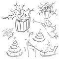 Free Christmas Contour Set 2 Stock Photos - 17046073