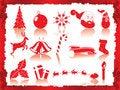 Free Christmas Icons Set Royalty Free Stock Photos - 17046478