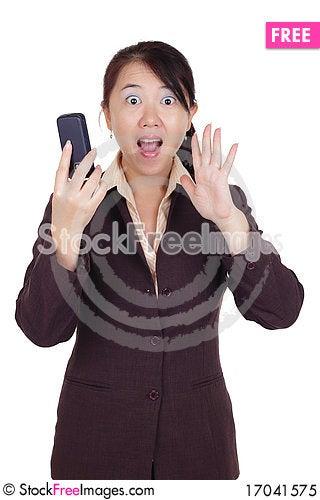 Free Surprised Businesswoman Royalty Free Stock Photo - 17041575