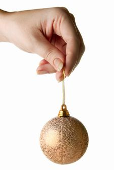 Free Hand Holding Christmas Bauble Royalty Free Stock Photos - 17040258