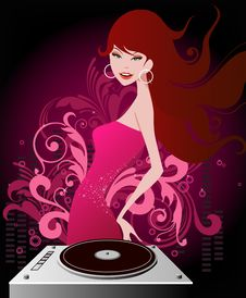 Free Music Girl Royalty Free Stock Photos - 17040448