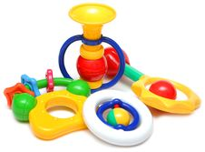 Set Of Beautiful Children S Toys For The Kids Royalty Free Stock Images