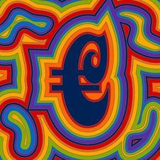 Free Groovy Money - Rainbow Euro Stock Photography - 17040602