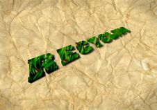 Free Recycling 3D On Recycled Paper Stock Photo - 17040700