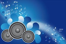 Free Music Background Royalty Free Stock Photography - 17041197