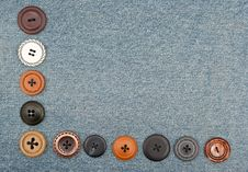 Free Buttons On Jeans Royalty Free Stock Photos - 17041288