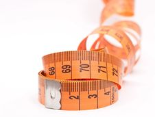 Curled Measuring Tape Royalty Free Stock Photo