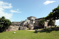 El Castillo Of Tulum Royalty Free Stock Images
