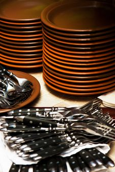 Free Plates And Forks Stock Images - 17042774