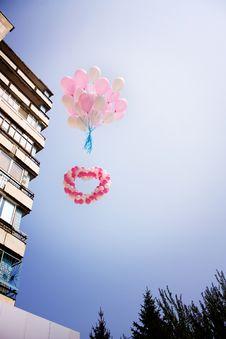 Free Flying Balloons Stock Image - 17043121