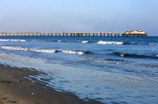 Free Pier On A Beach Stock Images - 17043144
