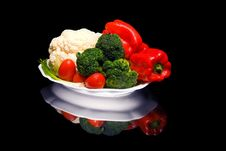 Free Vegetable Platter Royalty Free Stock Images - 17043179