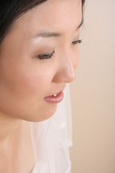 Close Up Bride Royalty Free Stock Photo