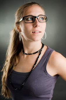 Free Sexy Woman With Glasses Stock Photos - 17043403