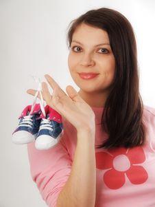 Pregnant Woman In Studio Stock Photo