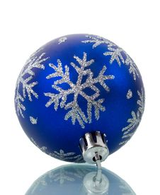 Christmas Decoration With Reflection Royalty Free Stock Images