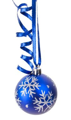 Christmas Decoration With Ribbon Royalty Free Stock Image