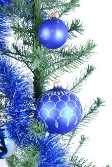Free Blue Christmas Balls Royalty Free Stock Image - 17043846
