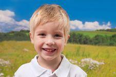 Free Cute Blond Smiling Boy Stock Photos - 17044113