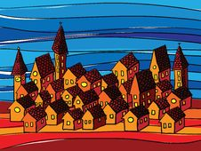 Free Houses Composition Stock Image - 17044141