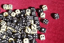 Free Dices On The Red Velvet Stock Photo - 17044390