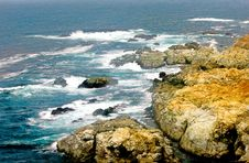 Rocky Shore Seascape Stock Photo