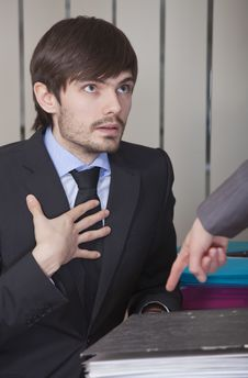 Businessman In Overtime Stock Image
