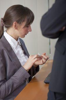 Free Secretary Filing Fingernails Stock Photography - 17044902