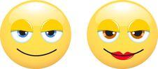 Free Smileys Man And Woman Stock Image - 17045211
