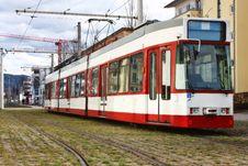 Free Modern European Tramway Royalty Free Stock Images - 17045959